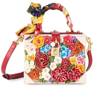 Dolce & Gabbana Dolce Box Floral Top Handle Bag