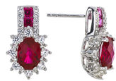 JCPenney FINE JEWELRY Lab-Created Ruby and White Sapphire Sterling Silver Earrings