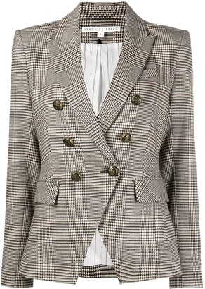 Veronica Beard Prince of Wales-check double-breasted blazer