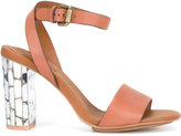 See by Chloe metallic heel sandals - women - Leather/rubber - 38