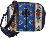 Tory Burch Mcgraw Floral Leather Camera Bag