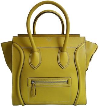 Celine Luggage Yellow Leather Handbags