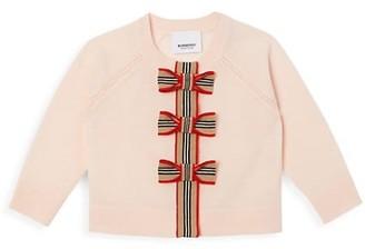 Burberry Baby's & Little Girl's Corrina Bow Wool Cardigan