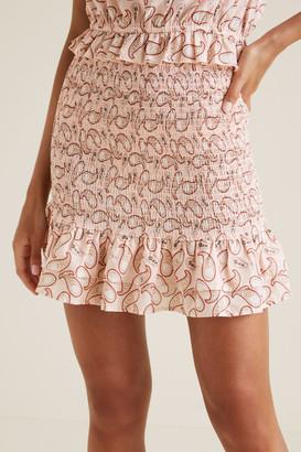 Seed Heritage Paisley Smocked Skirt