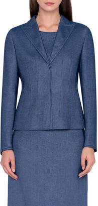 Akris Wool-Cotton Pique Blazer