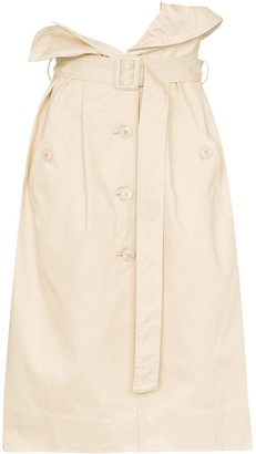 Jacquemus High Waist Denim Midi Skirt
