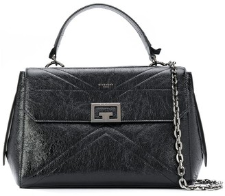 Givenchy Leather Shoulder Bag With Embroidered Chain Strap
