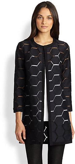 Milly Geo Cocktail Coat