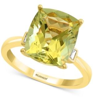 Effy Lemon Quartz (4-5/8 ct. t.w.) & Diamond (1/10 ct. t.w.) Statement Ring in 14k Gold