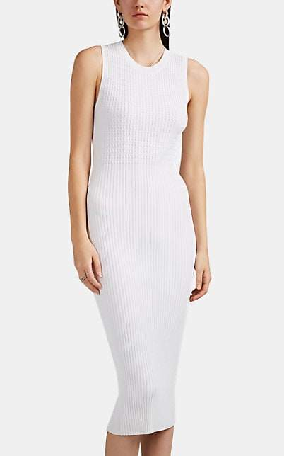 Rag & Bone Women's Brea Rib-Knit Dress - White