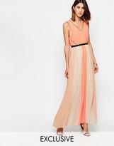 Vila Colour Block Pleated Maxi Dress