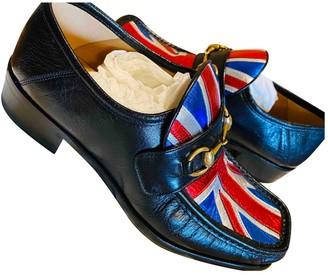 Gucci Jordaan Black Leather Flats