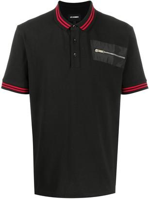 Les Hommes Zipped Pocket Polo Shirt