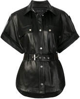 Barbara Bui short-sleeve biker jacket