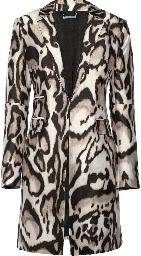 Diane von Furstenberg Mahala animal-print wool-blend coat
