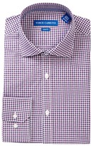 Vince Camuto Gingham Trim Fit Dress Shirt