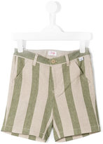 Il Gufo striped shorts - kids - Cotton/Linen/Flax/Spandex/Elastane - 2 yrs