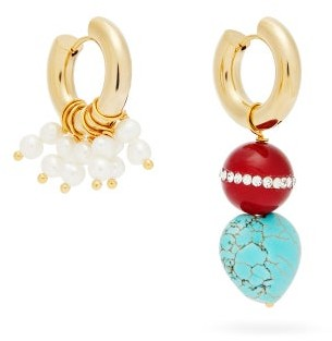 Timeless Pearly Mismatched Pearl & 24kt Gold-plated Earrings - Gold