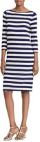 Lauren Ralph Lauren Metallic Stripe Sweater Dress