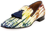 Christian Louboutin Officialito Canvas Tassel Loafer