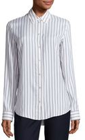 The Row Peter Silk Striped Shirt