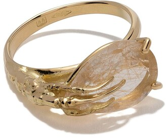 Wouters & Hendrix Gold 18kt Gold Claw Quartz Ring