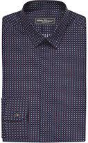Salvatore Ferragamo Slim-fit Square-print Cotton Shirt