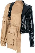 Seen asymmetric jacket