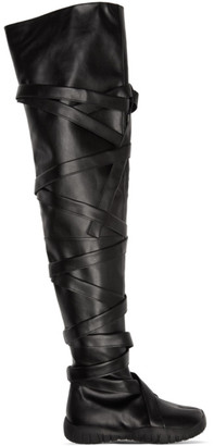 Maison Margiela SSENSE Exclusive Black Tabi Low Thigh-High Boots