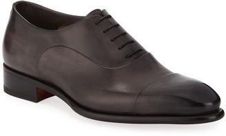 Santoni Men's Isaac Leather Lace-Up Shoes