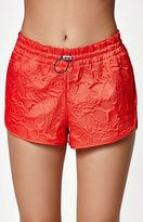 adidas Textured Floral Print Running Shorts