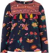 Billieblush Girls Floral Print Blouse