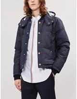 Thom Browne Striped-trim regular-fit cotton-twill shirt