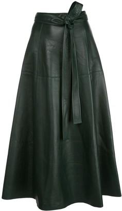 Oscar de la Renta tie-waist A-line skirt