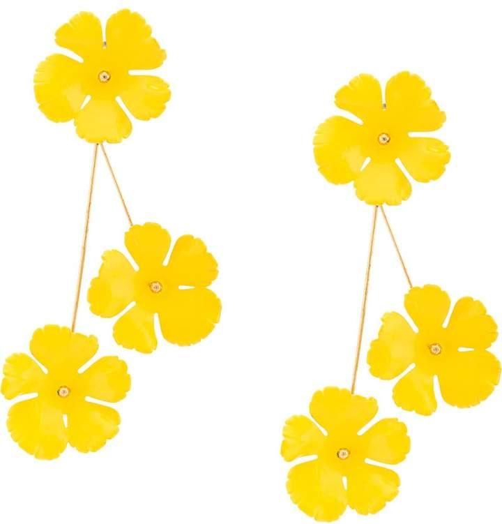Jennifer Behr floral design long earrings