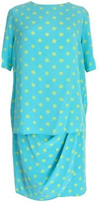 Ungaro Turquoise Silk Dress for Women