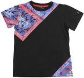 Armani Junior Camouflage Bandana Cotton Jersey T-Shirt