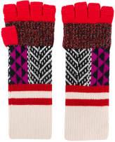 Burberry patchwork fingerless gloves