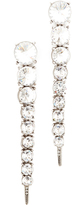 Oscar de la Renta Single Tendril Crystal Earrings