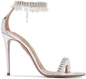 Aquazzura Embellished High Heel Sandals