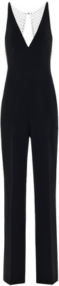 Stella McCartney Embellished stretch-crApe jumpsuit
