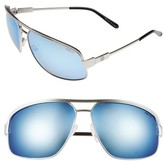 Revo Men's Stargazer 67Mm Aviator Sunglasses - Chrome/ Blue Water
