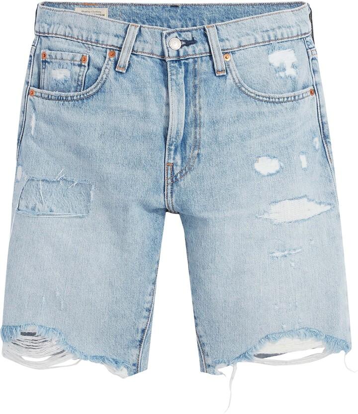 RRP £34.99 PA1 Mens Condemned Nation Edviga Light Wash Denim Shorts