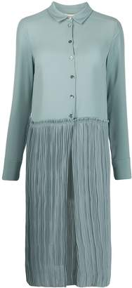 Semi-Couture Semicouture pleated shirt dress