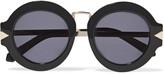 Karen Walker Alt Fit Maze round-frame acetate and metal sunglasses