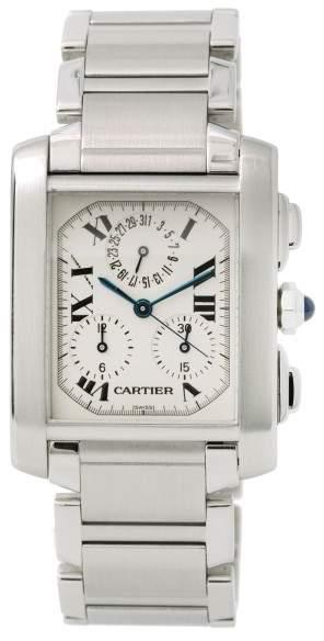 Cartier Tank 2303 Stainless Steel Quartz 32mm Mens Watch