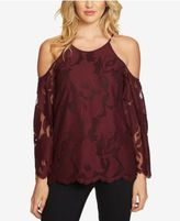 1 STATE 1.STATE Lace Cold-Shoulder Top
