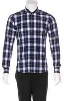 Givenchy Woven Plaid Shirt