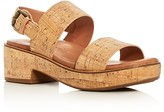 Gentle Souls Talia Cork Platform Slingback Sandals