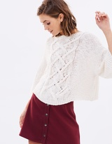 Moon River Cable Knit Jumper